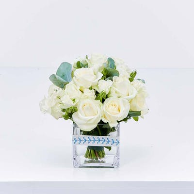 White Rose & Eucalyptus Cube