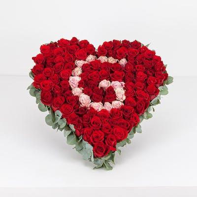 Red Rose Letter Heart